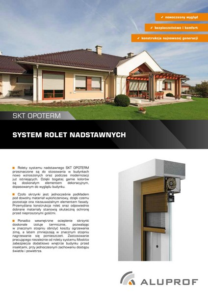 System rolet nadstawnych OPOTERM