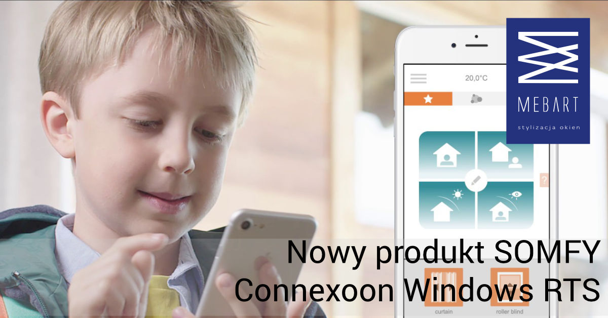 Nowość od SOMFY - Connexoon Windows RTS
